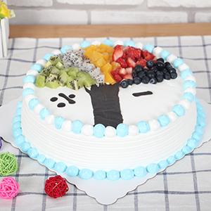 蛋糕/六一童趣:五种水果搭配鲜奶奶油 祝 愿:六一儿童节快乐 保