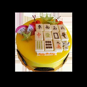 蛋糕/天天向上:鮮奶雞蛋胚+巧克力塊+新鮮時令水果 祝 愿:恭喜發