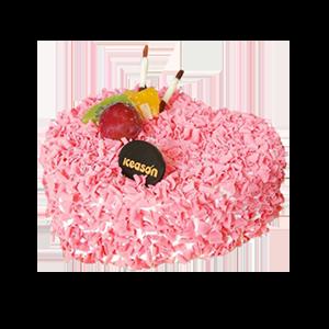 蛋糕/一心一意:鮮奶雞蛋胚+巧克力碎+水果裝飾 祝 愿:人生最難得