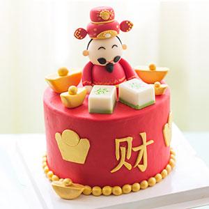 蛋糕/新年翻糖系列:鲜奶鸡蛋胚+精美翻糖 祝 愿:恭喜发财,大吉大利!