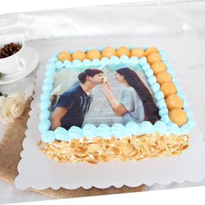 蛋糕/浪漫定制:数码蛋糕,新鲜奶油搭配时令水果,食用糯米纸打印 祝