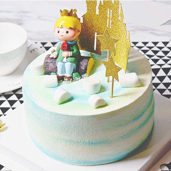 蛋糕/小王子:进口优质淡奶油,巧克力,棉花糖等 祝 愿:长大后你