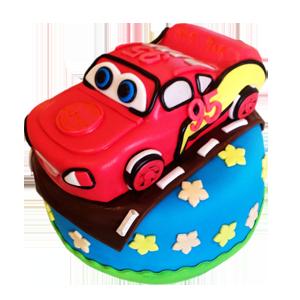 蛋糕/【翻糖蛋糕】汽车总动员:翻糖蛋糕(需提前预定。双层蛋糕,上下两层的尺寸相差最