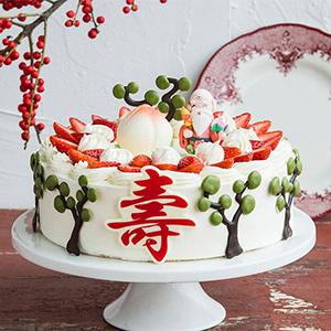蛋糕/福寿绵延:原材料:时令水果 鸡蛋 草莓 蛋糕说:福寿绵延