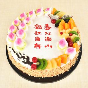 蛋糕/福禄寿来:精选淡奶油搭配时令水果 祝 愿:福禄寿来喜满堂,添