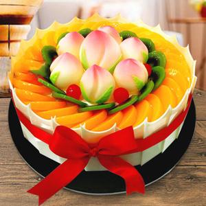 蛋糕/福寿齐天:优质淡奶油,搭配新鲜时令水果 祝 愿:金玉满堂 阖