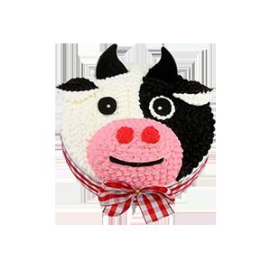蛋糕/可爱牛牛:新鲜奶油创意造型,深得孩子的喜爱 祝 愿:生肖小奶