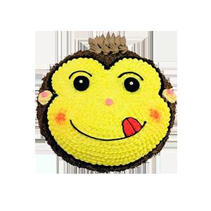 蛋糕/嬉皮猴:美味新鲜奶油+创意可爱造型 祝 愿:孩子是最有爱心