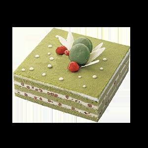 蛋糕/春的浪漫:美味抹茶+馬卡龍點綴 祝 愿:浪漫的美味,享受這一