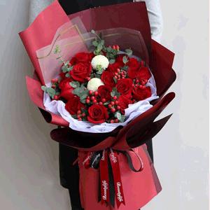 鮮花/愛你的心永恒:19枝紅玫瑰 花 語:愛你的心 從內到外 都是熾熱