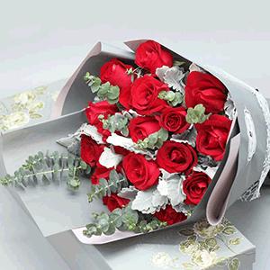 鮮花/典雅愛人:19枝紅玫瑰 花 語:如此愛你,不離不棄