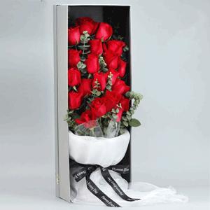 鮮花/愛你一輩子:21枝紅玫瑰 花 語:親愛的寶貝,七夕快樂,永遠愛