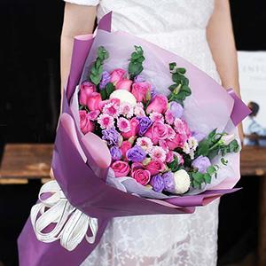 鲜花/热情洋溢:高品质花材混搭(韩式小清新风格) 花 语:友情,爱