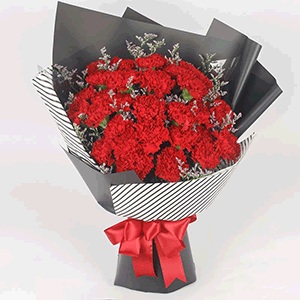 鲜花/感谢您:33枝粉色康乃馨 花 语:关怀虽然无言,感动心中永