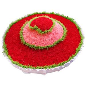 鲜花/爱你一万年:1万枝玫瑰 包 装:上层800枝红玫瑰心形花盘,中