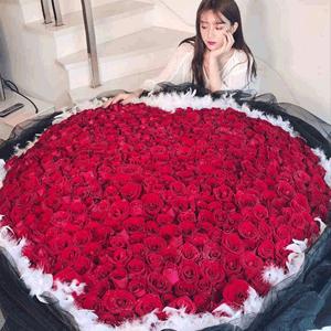 鲜花/my heart is with you:999枝红玫瑰 花 语:对我来说 你就是全世界