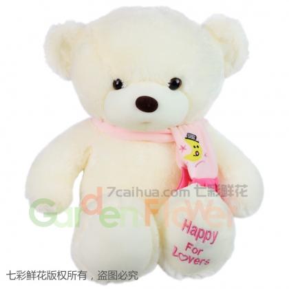 围巾泰迪熊(粉色)